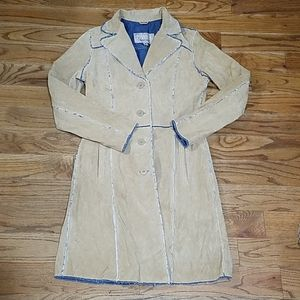 ilson's Leather Maxima beige trench Coat Med
